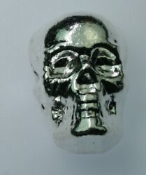 100 Gram .999 Silver Bullion Skull By Yps Yeager's Poured Silver