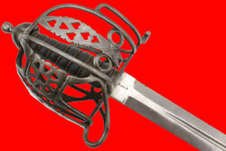 Well Marked 1828 Model English Scottish Officers Basket Hilt Broad Sword By Mole
