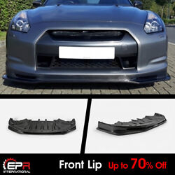 Nis Craft Style Carbon For 09-12 Nissan R35 Early Front Lip Under Splitter Kits