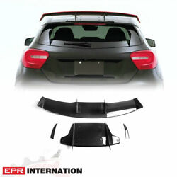 Carbon Fiber Va Style Fit For Benz W176 Roof Spoiler Rear Wing Kit