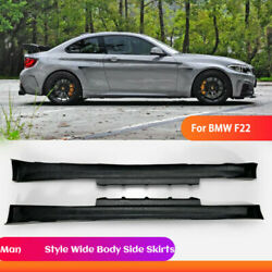 Manhart Style For Bmw 2 Series F22 Frp Fiber Wide Body Side Skirts Exterior Kit