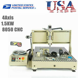 8050 4axis1.5kw Cnc Router Engraver Machine Wood Milling Cutting Andhandwheel