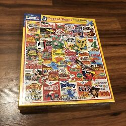 Brand New Sealed White Mountain 1000 Piece Jigsaw Puzzle Vintage Cereal Boxes B7