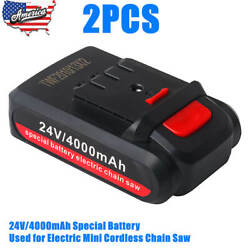 2pcs 24v/4000mah Special Battery Used For Electric Mini Cordless Chain Saw