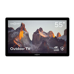 Suncast 55 Outdoor Partial Shade 4k Uhd Led Tv - Waterproof Remote And Mount