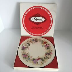 Pimpernel Round Placemats Set Of 6 In Box Vtg Magnolia Acrylic Cork Floral 10