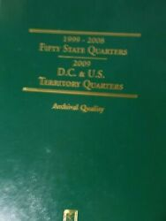 1999-2008 Fifty State Quarters In Folder -- 58 Coins