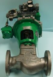 """Fisher 2"""" 150 Lb. Flanged Cf3m 316l Sstl Control Valve W/ System 9000 Actuator"""