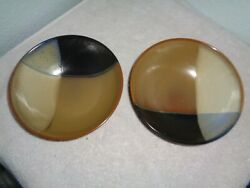 4 Sango Gold Dust Black 5022 Coupe Cereal Bowls Brown