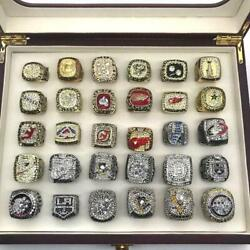 From 1988 To 2018 Nhl Championship 30 Rings Set Championship Ring Set With Box