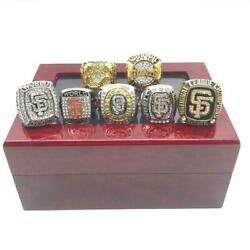 San Francisco Giants 7 Rings Set Championship Ring Set 2021 Newest With Box Hot