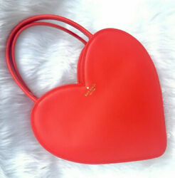Kate Spade Doily Heart Tote Red Leather Secret Admirer Wedding Gift Nwot