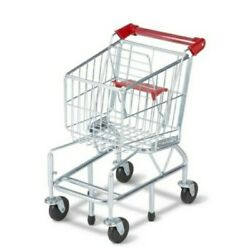 Melissa And Doug Kids Fun Toy Grocery Store Shopping Cart Pretend Play