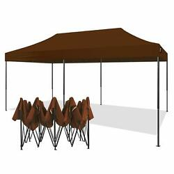 American Phoenix 10x20 Ft Brown Canopy Tent Pop Up Portable Instant Heavy Duty