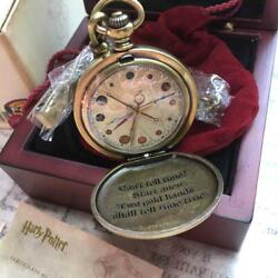 2001 Harry Potter Dumbledore Pocket Watch With Box Fossil Limited