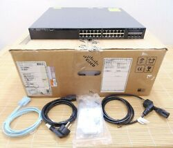 New Other Cisco Ws-c3650-24pd-l 24 10/100/1000 Ethernet Poe+ Lan Base New 2xpwr