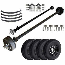 3.5k Light Duty Tandem Axle Tk Trailer Kit - 7000 Lb Capacity Midnight Series