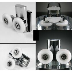 2pcs Rollers Wheels Twin 23mm Door Runners Dia For 4-8mm Glass Practical