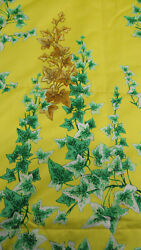 4070 Versace King Size Coverlet / Yellow Red And Green 100 Cotton