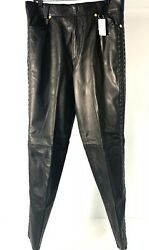 Vintage Gianni Versace Leather Pants Size 52 Miami Collection - Rare