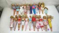 Lot Of 22 Barbie Dolls With Clothing, Accessories, Brushes, Outfits, Hats, Dress