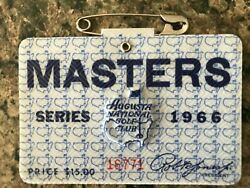 1-1966 Used Masters Golf Badgejack Nicklausrare Ticket W/ Pin-ships Now