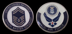 Us Air Force Senior Master Sergeant 08 Rank Challenge Coin Military Coins