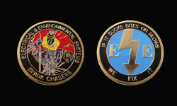 Us Air Force Electrical And Environmental Challenge Coin Military Coins New