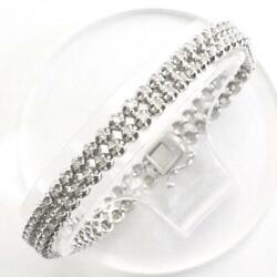 Jewelry 18k White Gold Bracelet Diamond 1.50 About14.8g Free Shipping Used