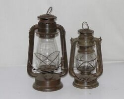 Antique 2 Pc Iron Lantern Lamp Model No.275/252 Made In Germany Collectible12099
