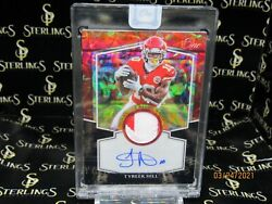 🔥 2020 Panini One Football Tyreek Hill Vet Patch Auto Black Parallel Sp /10 🔥