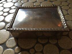 Vintage Heavy Mexican Sterling Silver Box 304 Grams 4 3/8andrdquo By 3 1/4andrdquo By 1 3/8andrdquo