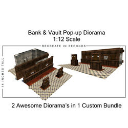 Extreme-sets Bank And Vault Pop-up Diorama 1/12 Scale For 6in - 7in Action Figures
