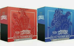 Pokemon Battle Styles Etb Elite Trainer Box Set Of 2 - Red And Blue - In Hand