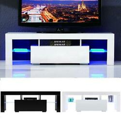 51 Wood High Gloss Led Tv Stand Entertainment Furniture Center Console Cabinet