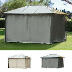10and039 X 12and039 Universal Pergola Curtain Kit W/ Hooks/c-ring Included