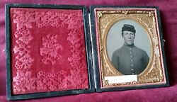 Civil War Ambrotype Soldier I.d. J.w. Hayden 7th New Hampshire Infantry