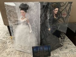 Disney D23 Exclusive Signed Once Upon A Time Snow White And Evil Queen Doll Set Le
