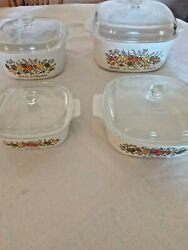 Vintage Rare 1970and039s Corning Ware Spice Of Life Set