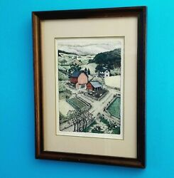 Vtg 1978 Susan Hunt-wulkowicz 8x11 Le Handcolored Etching Lithograph Wagner Road