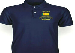 Vietnam 37th Tactical Fighter Wing Phu Catembroidered Polo Shirt/sweat/jacket.