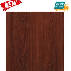 Brown Wood Grain Peel And Stick Paper Contact On Kitchen Cabinet Shelf Drawer...