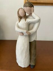 Willow Tree 'together' Sculpted Embracing Couple Figurine Susan Lordi 2000 Euc