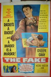 1 Vintage One Sheet Movie Poster For The Fake 1953 Dennis Oand039keefe Coleen Gray