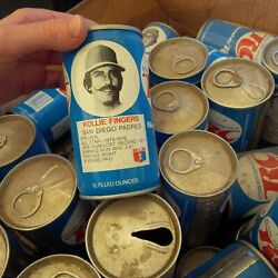 Vintage Soda Can Lot Of Rc Cola Cans 1970s 1980and039s Baseball Players About 70 +/-