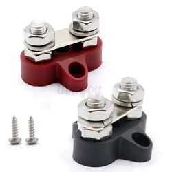 Bus Bar Boat Car Electrical Junction 8mm Wire Terminal Stud Positive 5/16 Ring
