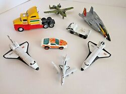 Lot Of Vintage Die Cast And Plastic Space Shuttle, Planes And Cars