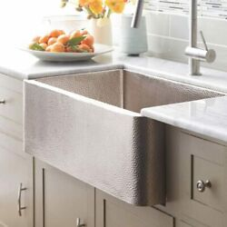 Native Trails Cpk573 Farmhouse 33 Inch Apron-front Kitchen Sink Brushed Nickel
