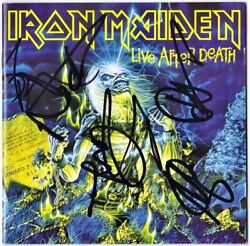 Iron Maiden Live After Death Fully Signed Bruce Dickinson Steve Harris Autograph