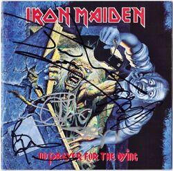 Iron Maiden No Prayer For The Dying Fully Signed Bruce Dickinson Nicko Autograph